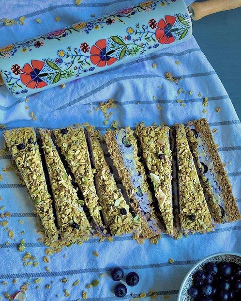 Blueberry granola slices