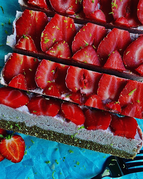 Strawberry & Cream breakfast bars