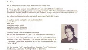 Las cartas de Wladek - Un primo encontrado al final de sus días. (Segunda Parte)
