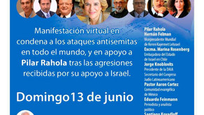 Unidos contra el antisemitismo. Homenaje a Pilar Rahola