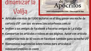 A Dinamizar la Valija de Apócrifos: Ideas, artículos, conferencistas ¡100 publicaciones en 5 meses!