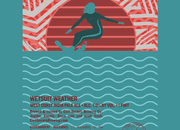 Civil Society Wetsuit Weather (American IPA - 4 Pack x 16 oz.)