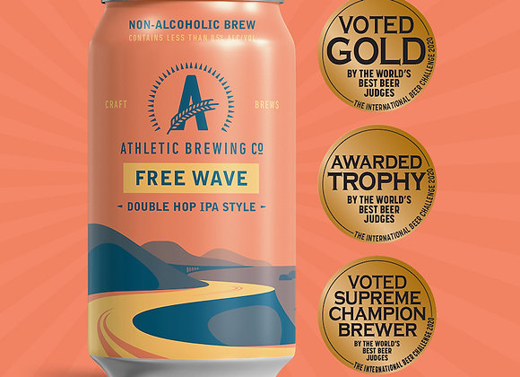 Athletic Free Wave (Non-Alcoholic IPA - 6 Pack x 12 oz.)