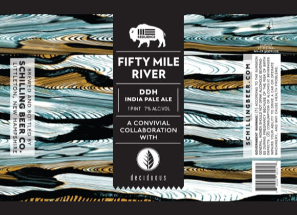 Resilience Fifty Mile River (Hazy IPA - 4 Pack x 16 oz.)