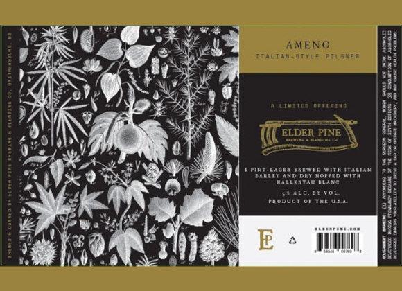 Elder Pine Ameno (Italian Pilsner - 4 Pack x 16 oz.)