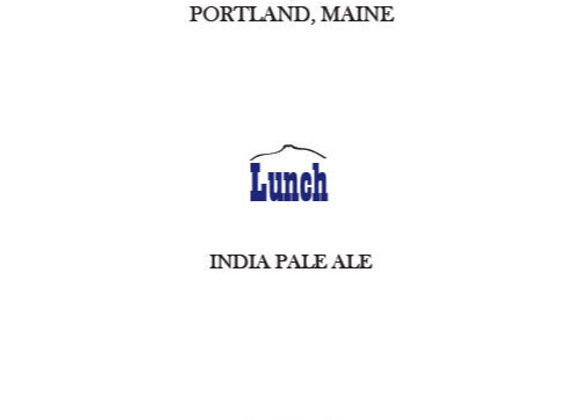 Maine Lunch (American IPA - Single x 16.9 oz.)