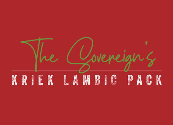 The Sovereign's Kriek Lambic Pack (2 x 25.4 oz. Bottles) *LIMIT 1*