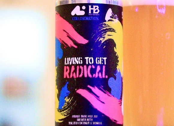 Aslin Living To Get Radical (Hazy Double IPA - 4 Pack x 16 oz.)