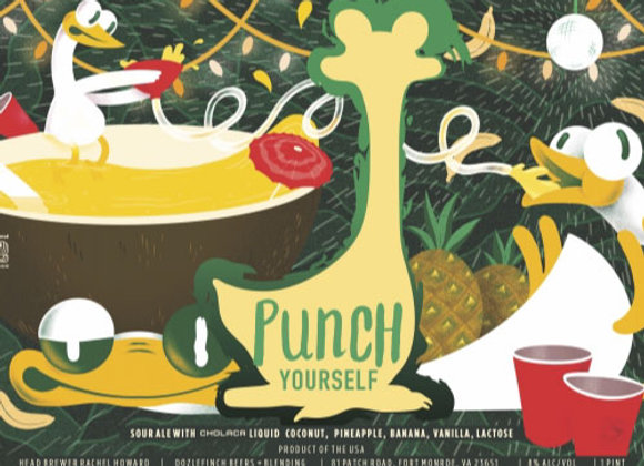 Oozlefinch Punch Yourself: Piña Colada (Fruited Sour Ale - 4 Pack x 16 oz.)