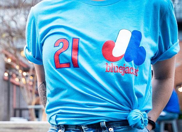 Retro Expos-style T-Shirt 2021 (Aqua Blue)