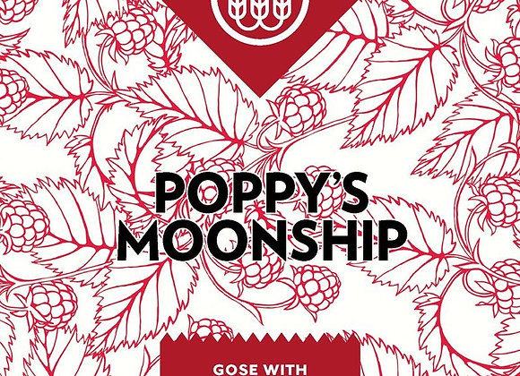 Schilling Poppy's Moonship: Raspberries (Gose - 4 Pack x 16 oz.)