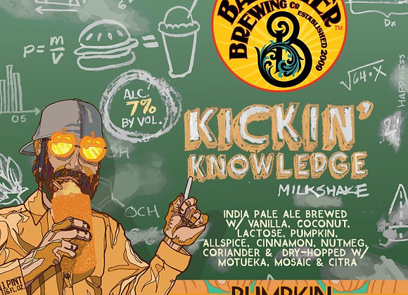 Barrier Kickin' Knowledge: Pumpkin (Milkshake IPA - 4 Pack x 16 oz.)