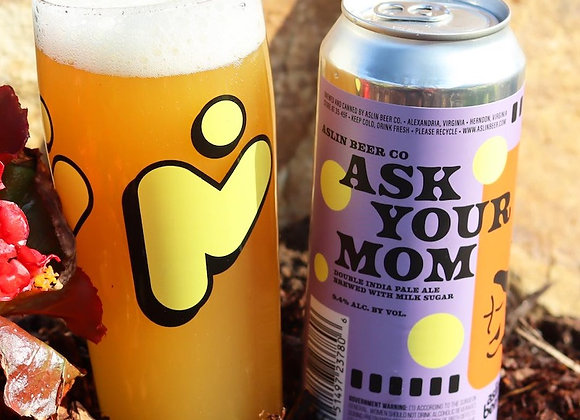 Aslin Ask Your Mom (Hazy Double IPA - 4 Pack x 16 oz.)