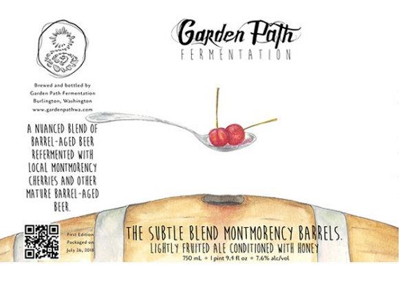 Garden Path The Subtle Blend: Montmorency '18 (Mixed Fermentation Ale -25.4 oz.)