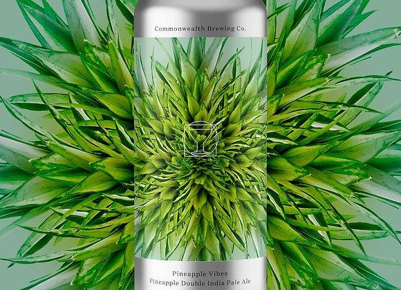 Commonwealth Pineapple Vibez (Hazy Double IPA - 4 Pack x 16 oz.) (MD)