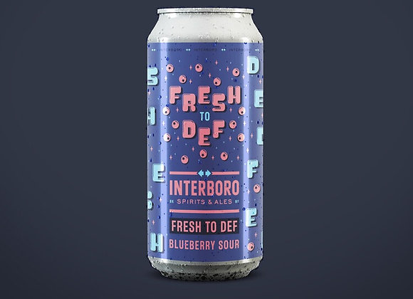 Interboro Fresh To Def (Fruited Sour Ale - 4 Pack x 16 oz.)