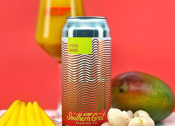 Southern Grist Lychee Mango Hill (Fruited Sour Ale - 4 Pack x 16 oz.)