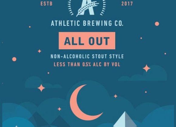 Athletic All Out (Non-Alcoholic Stout - 6 Pack x 12 oz.)