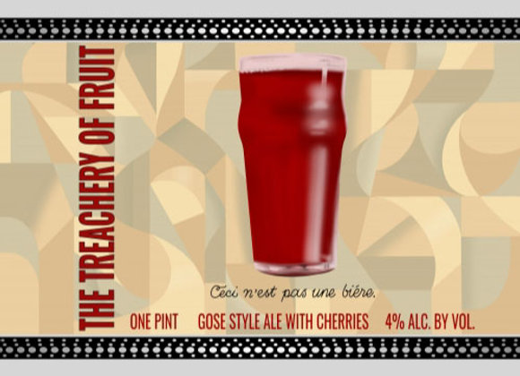 Short Throw The Treachery Of Fruit: Cherry (Fruited Sour Ale - 4 Pack x 16 oz.)