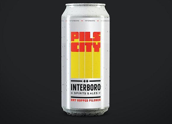 Interboro Pils City (Italian Pilsner - 4 Pack x 16 oz.)