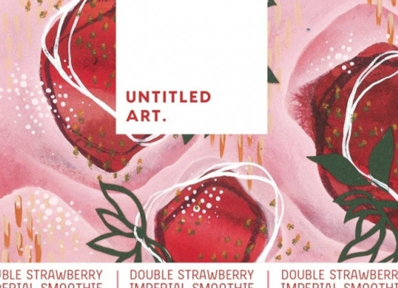 Untitled Art Double Strawberry Imperial Smoothie (Sour Ale - 4 Pack x 16 oz.)
