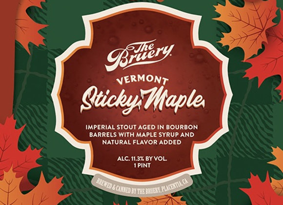 The Bruery Vermont Sticky Maple (Imperial Stout - Single x 16 oz.)