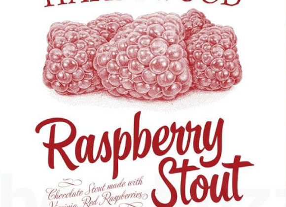 Hardywood Park Raspberry Stout (Imperial Stout - 4 Pack x 16 oz.)
