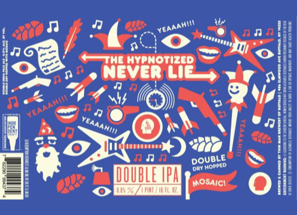 Thin Man The Hypnotized Never Lie (Hazy Double IPA - 4 Pack x 16 oz.)