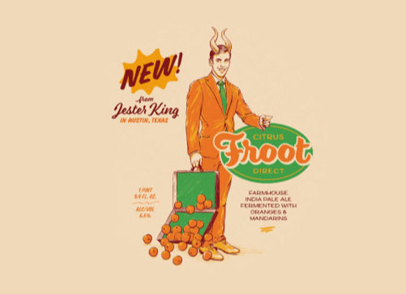 Jester King Citrus Froot Direct (Mixed Fermentation Ale - Single x 25.4 oz.)