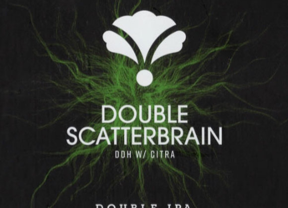 Bearded Iris Double Scatterbrain: DDH Citra (Hazy Double IPA - 4 Pack x 16 oz.)