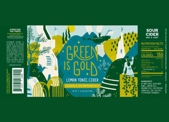 Graft Green Is Gold (Dry Cider - 4 Pack x 12 oz.)