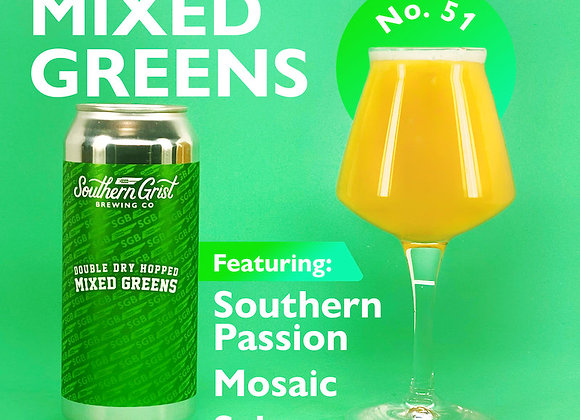Southern Grist DDH Mixed Greens: LI (Hazy IPA - 4 Pack x 16 oz.)