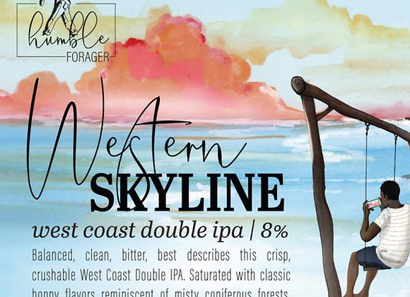 Humble Forager Western Skyline: V1 (Double IPA - 4 Pack x 16 oz.)