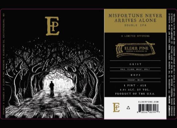 Elder Pine Misfortune Never Arrives Alone (Hazy DIPA - 4 Pack x 16 oz.) (MD)