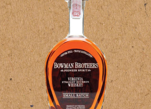 Bowman Brothers Pioneer Spirit / Straight Bourbon (DC ONLY)