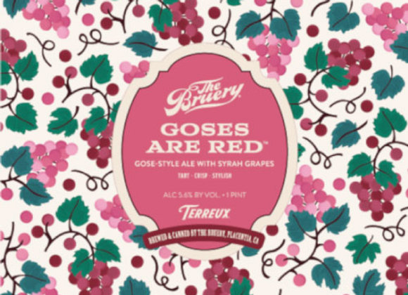 Bruery Terreux Goses Are Red (Gose - 4 Pack x 16 oz.)