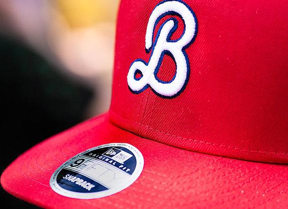 "Bluejacket Curly ""B"" New Era Baseball Hat (Red)"