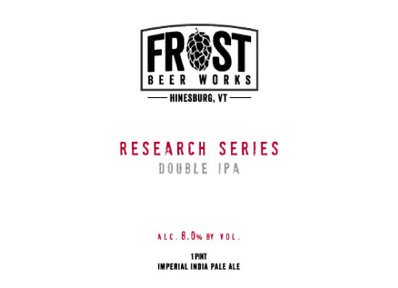 Frost Research Series: Double IPA (Hazy Double IPA - 4 Pack x 16 oz.)