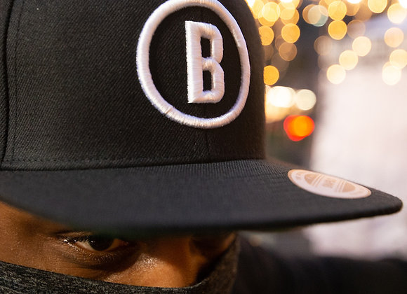 Bluejacket Circle Logo Snapback Hat (Black)