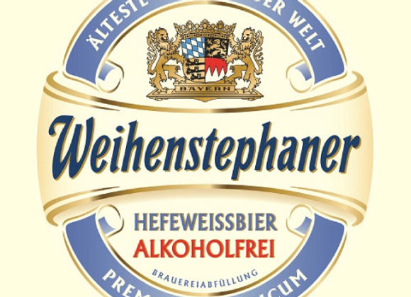 Weihenstephaner Hefeweissbier NA (Non-Alcoholic Hefeweizen - 6 Pack x 11.2 oz.)