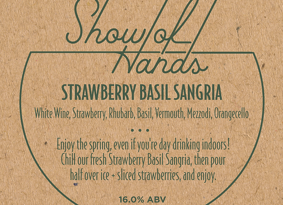 Strawberry Basil Sangria - 10 Ounce Bottle (Serves 2) (MD)