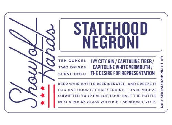Statehood Negroni (serves 2)