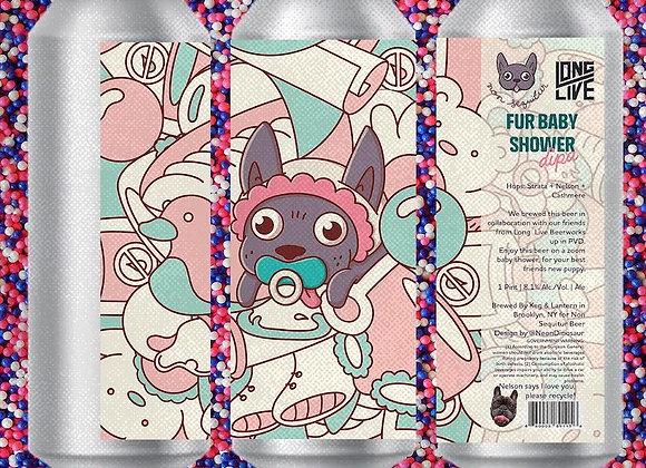 Non Sequitur Fur Baby Shower (Hazy Double IPA - 4 Pack x 16 oz.)