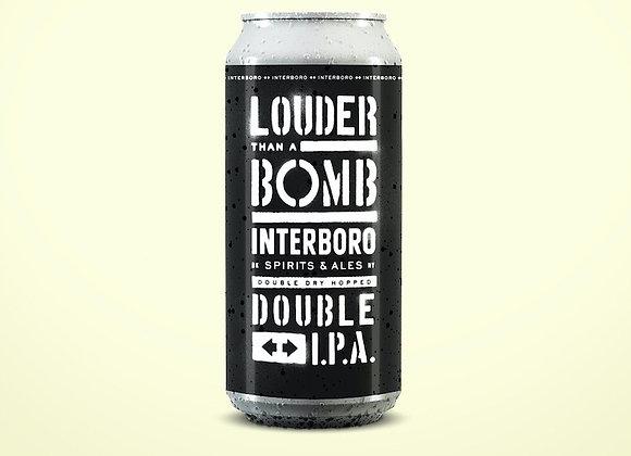 Interboro Louder Than A Bomb (Hazy Double IPA - 4 Pack x 16 oz.)
