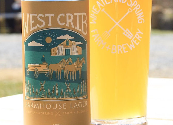 Wheatland Spring West Crib (Pale Lager - 4 Pack x 16 oz.)