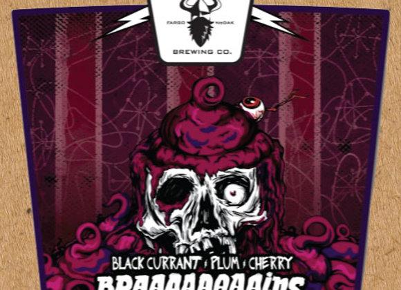 Drekker Braaaaaaaains: Black Currant, Plum & Cherry (Sour Ale - 4 Pack x 16 oz.)