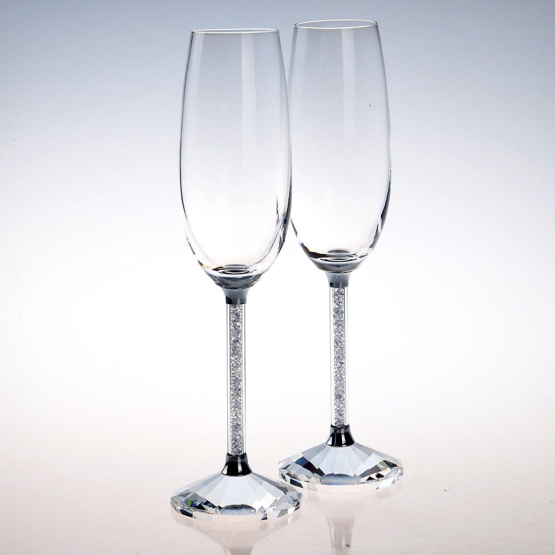 Swarovski Champagne Glasses