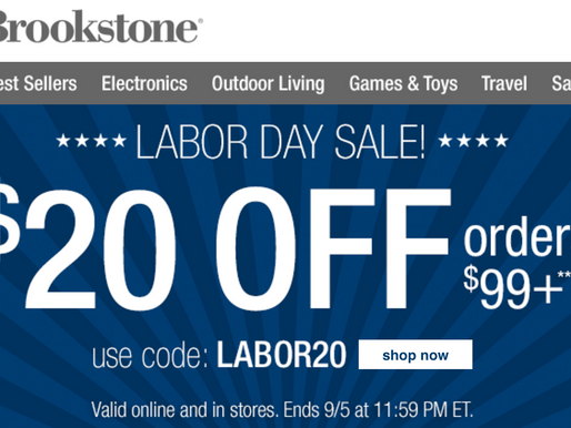 Brookstone! $20 OFF Orders of $99!