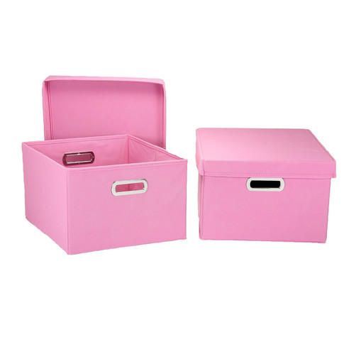 Storage Boxes with Lids - Pink.jpg