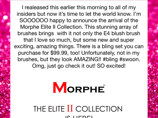 MORPHE | The Elite II Collection Has Arrived!!